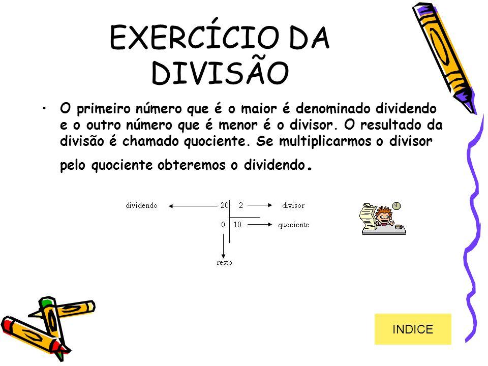 EXERCÍCIO DA DIVISÃO