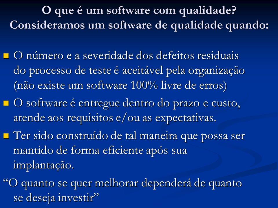 O que é um software com qualidade