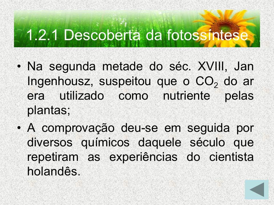 1.2.1 Descoberta da fotossíntese