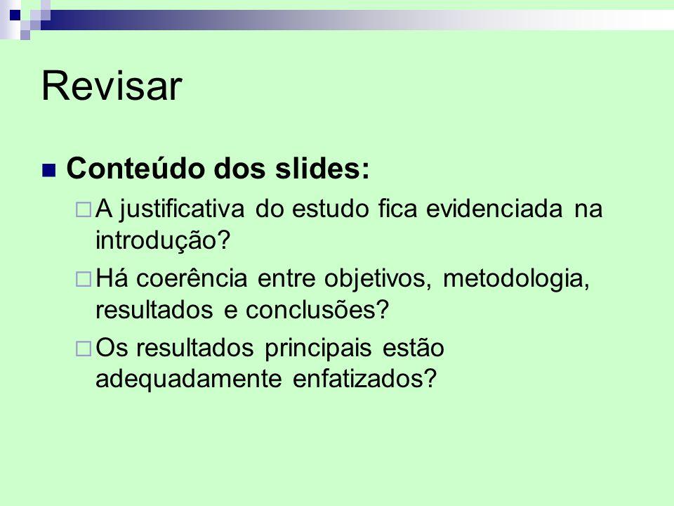 Revisar Conteúdo dos slides: