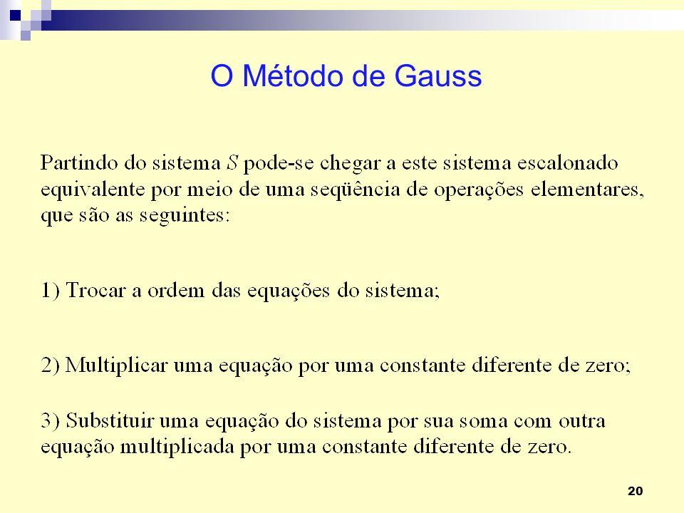 O Método de Gauss
