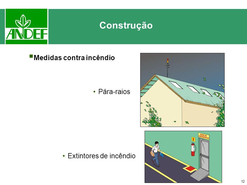 Construção Medidas contra incêndio Pára-raios Extintores de incêndio