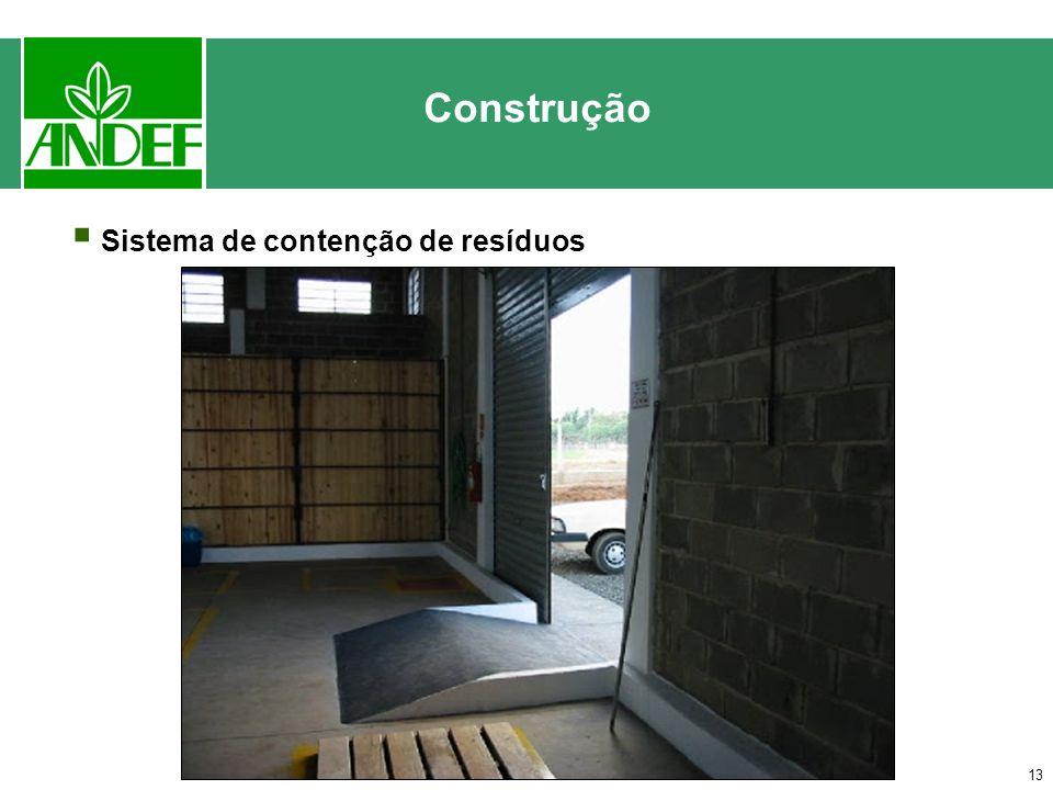 Construção Sistema de contenção de resíduos