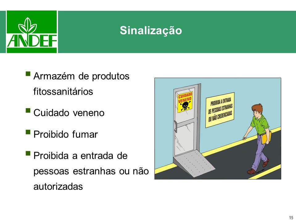 Sinalização Armazém de produtos fitossanitários Cuidado veneno