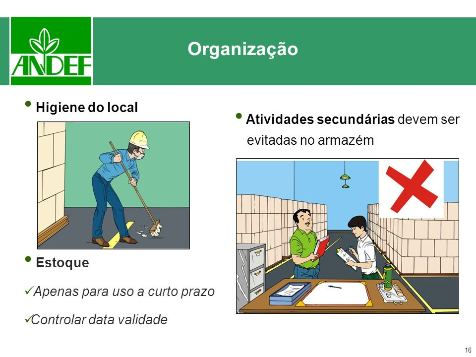 Organização Higiene do local