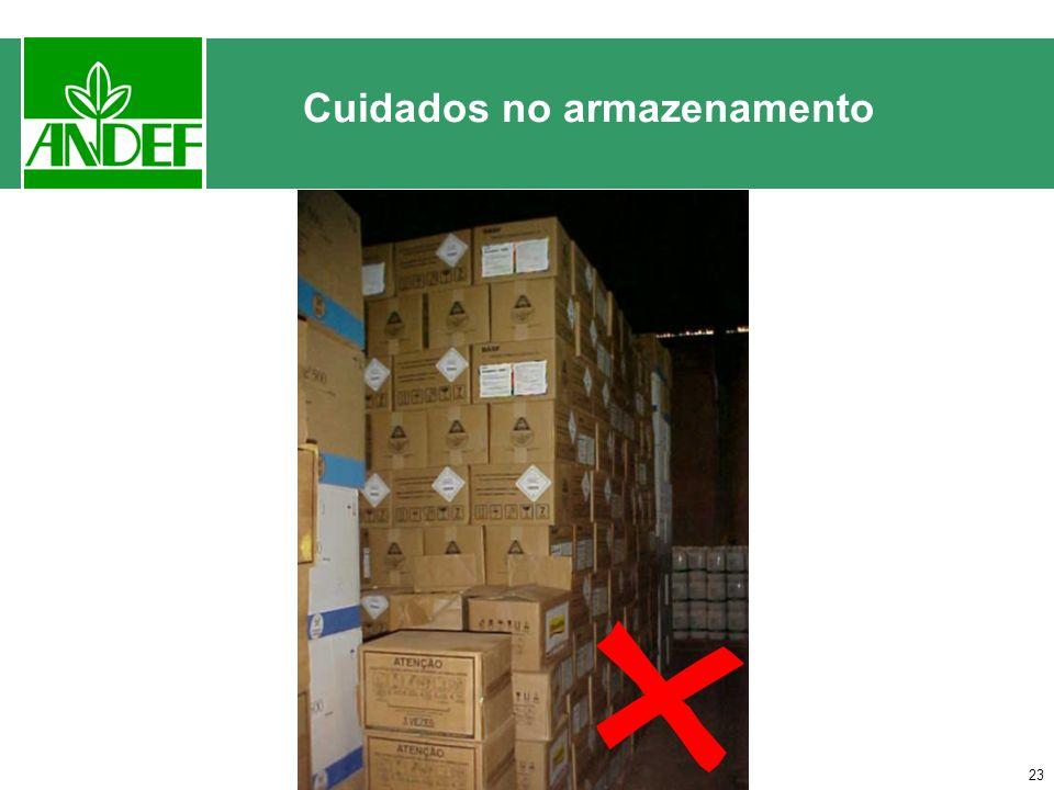 Cuidados no armazenamento