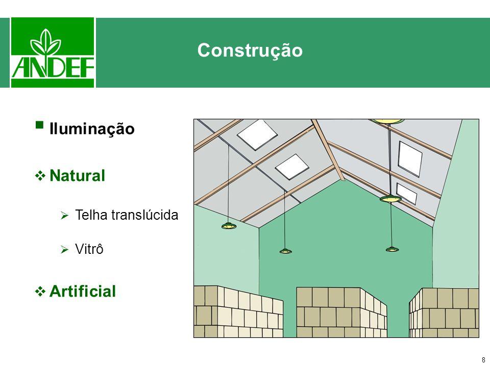 Construção Iluminação Natural Telha translúcida Vitrô Artificial