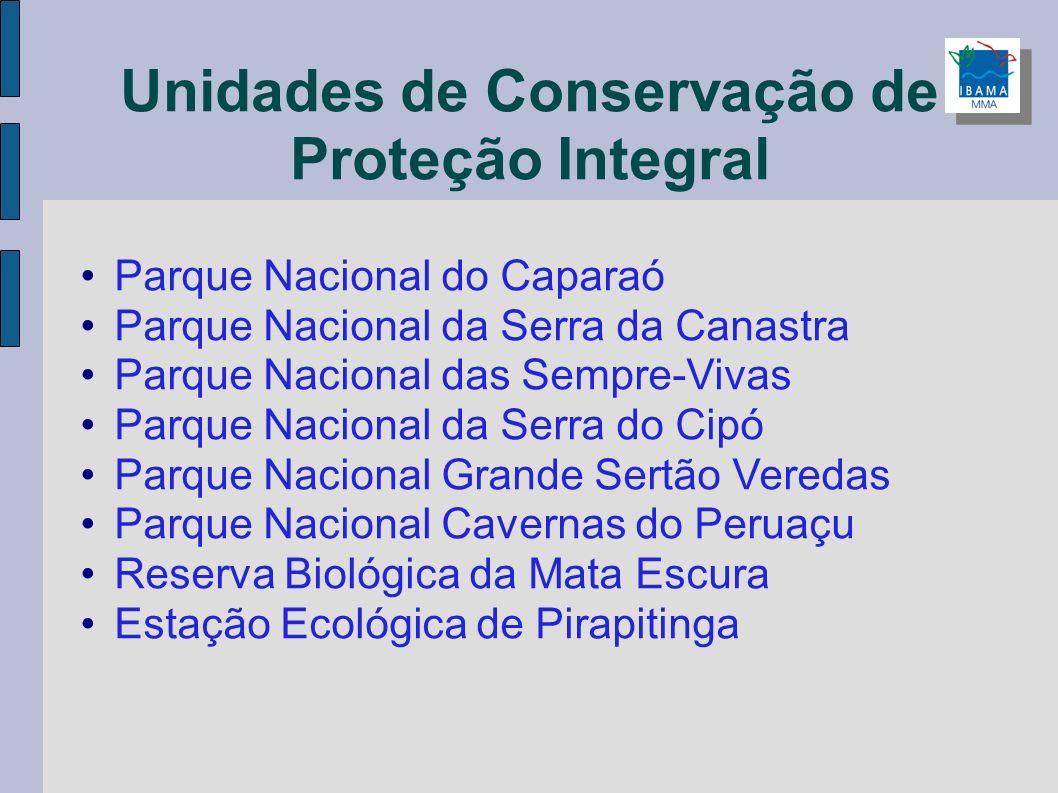 Unidades de Conservação de Proteção Integral