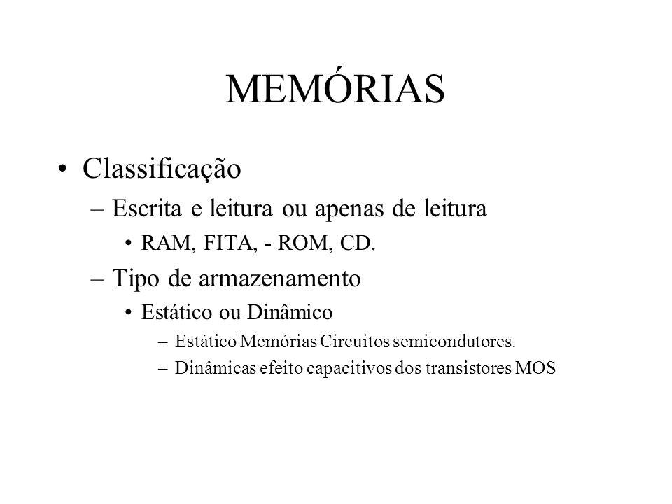 MEMÓRIAS Classificação Escrita e leitura ou apenas de leitura