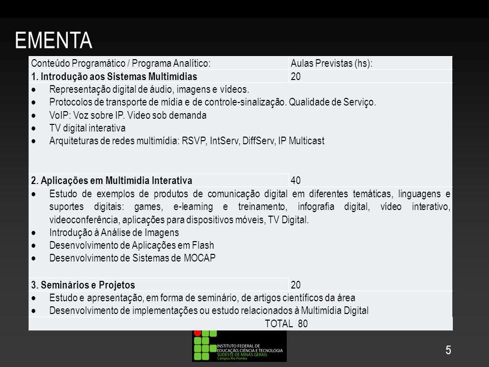 EMENTA 5 Conteúdo Programático / Programa Analítico: