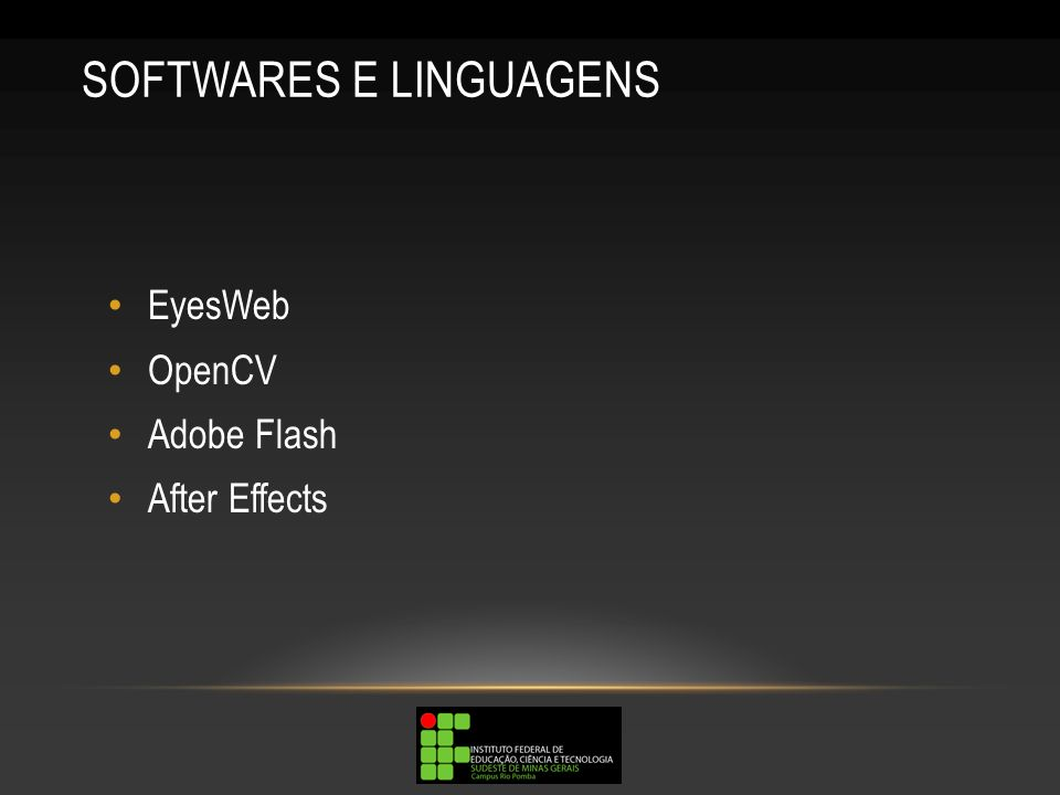 SOFTWARES E LINGUAGENS