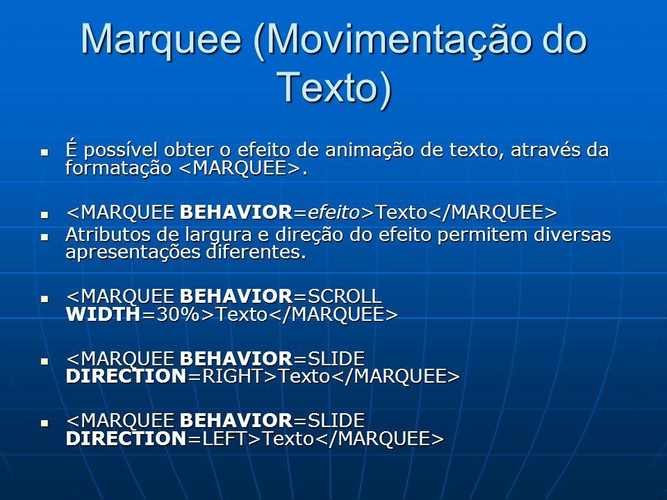 Marquee (Movimentação do Texto)