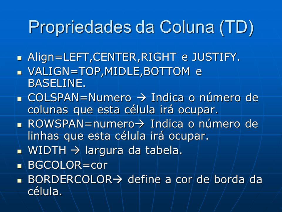 Propriedades da Coluna (TD)