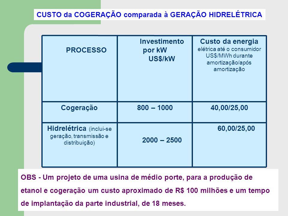 Hidrelétrica (inclui-se geração, transmissão e distribuição)