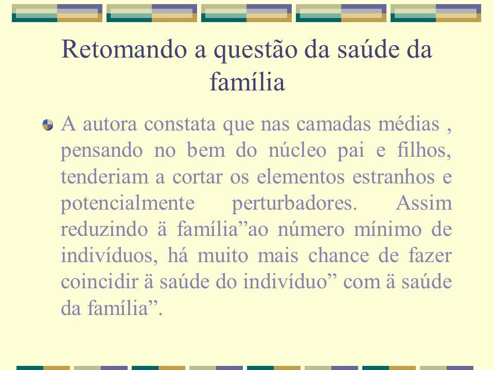 Retomando a questão da saúde da família