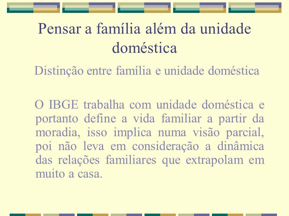 Pensar a família além da unidade doméstica
