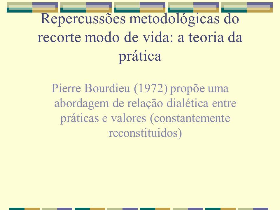 Repercussões metodológicas do recorte modo de vida: a teoria da prática