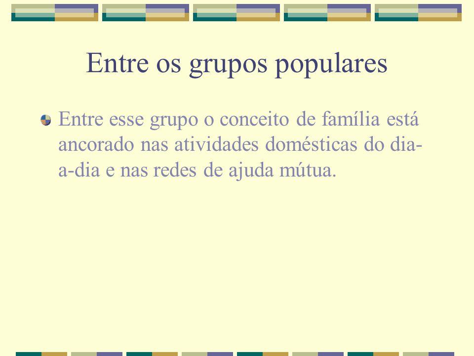 Entre os grupos populares