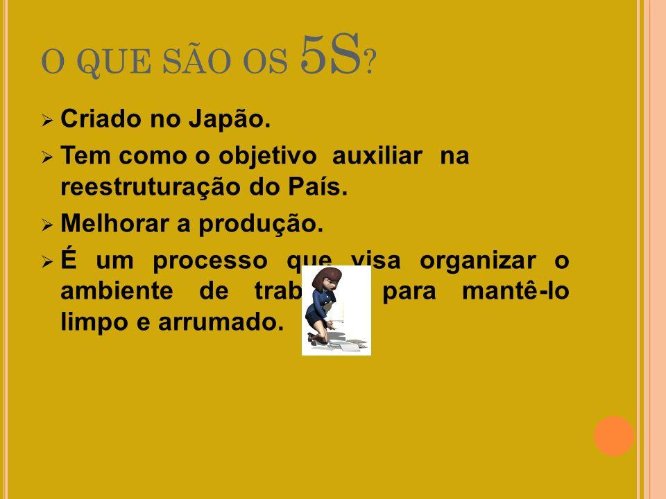 O QUE SÃO OS 5S Criado no Japão.