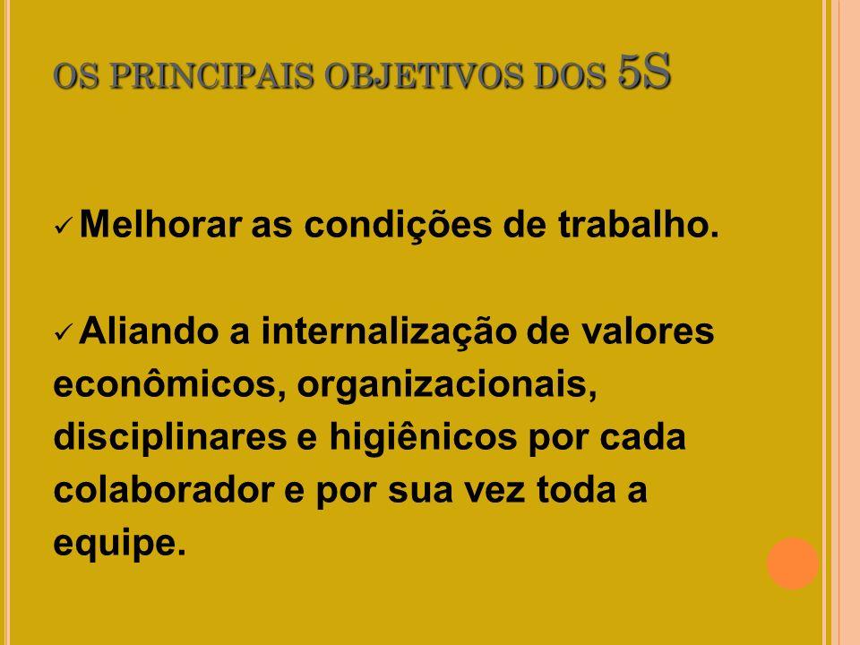 OS PRINCIPAIS OBJETIVOS DOS 5S