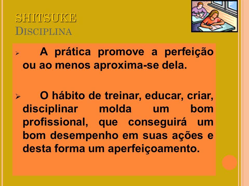 SHITSUKE Disciplina A prática promove a perfeição ou ao menos aproxima-se dela.