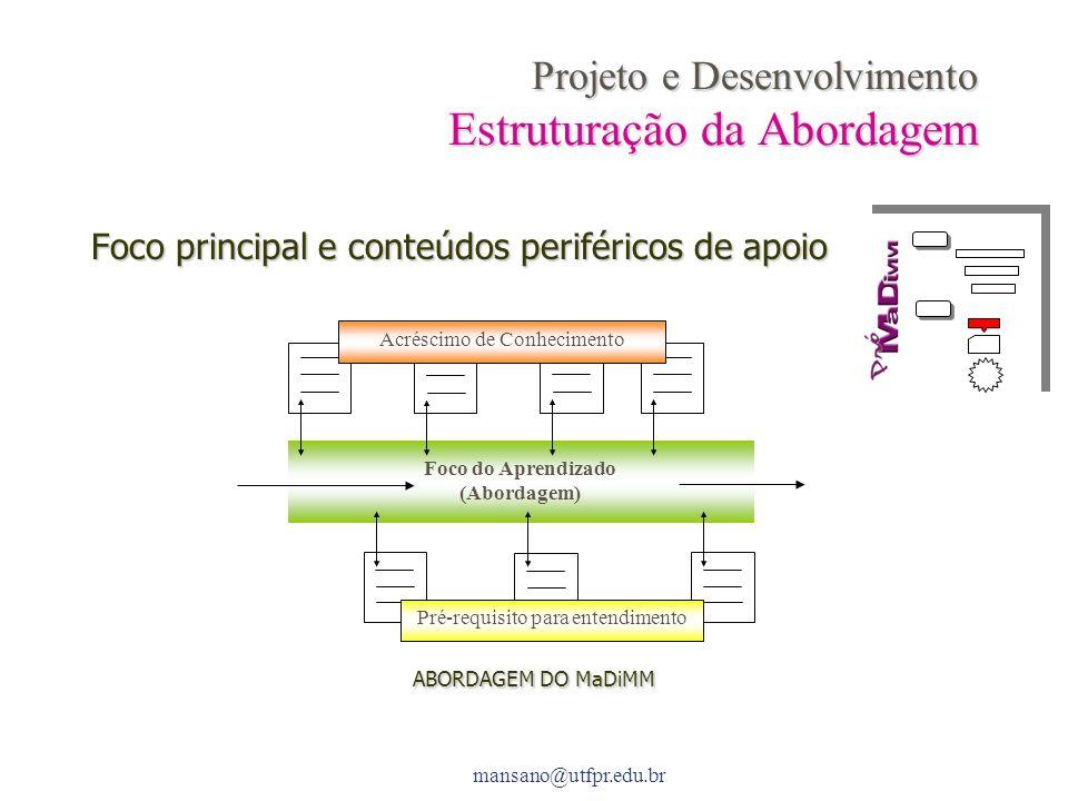 Projeto e Desenvolvimento Estruturação da Abordagem