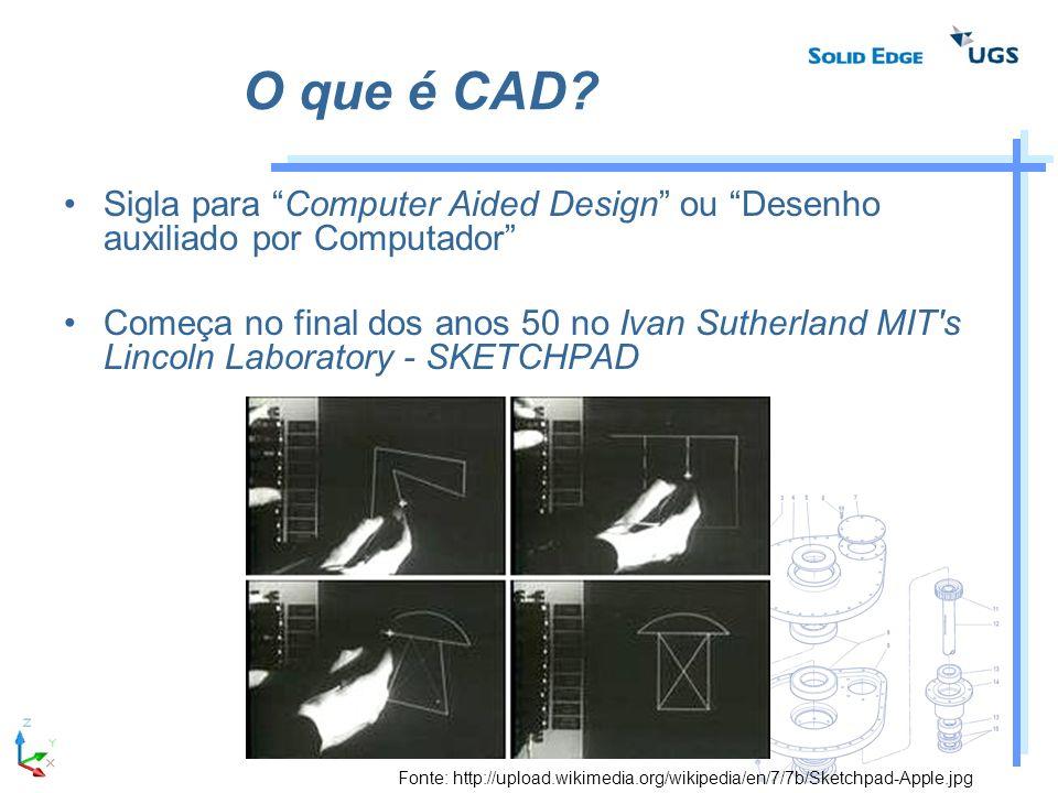 O que é CAD Sigla para Computer Aided Design ou Desenho auxiliado por Computador