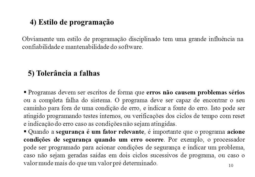 4) Estilo de programação