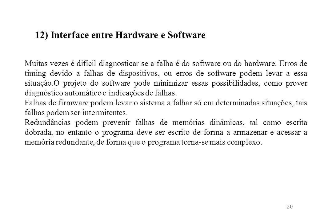 12) Interface entre Hardware e Software