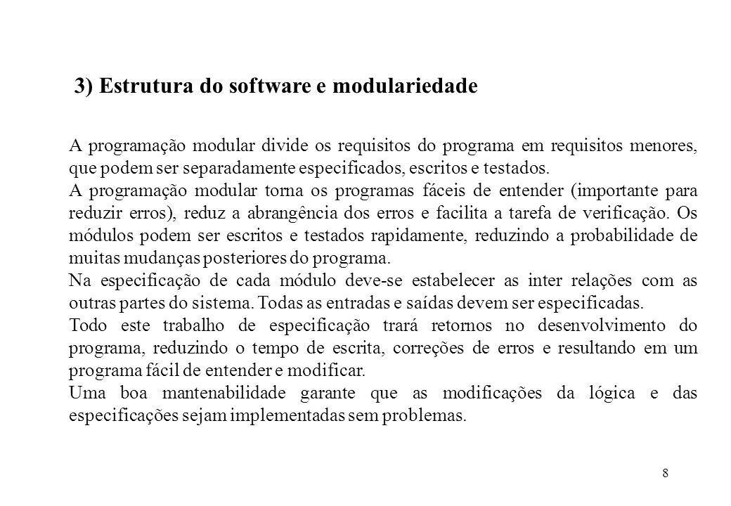 3) Estrutura do software e modulariedade