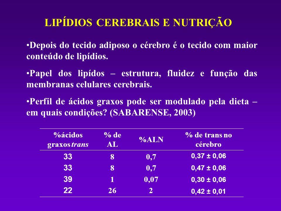 LIPÍDIOS CEREBRAIS E NUTRIÇÃO