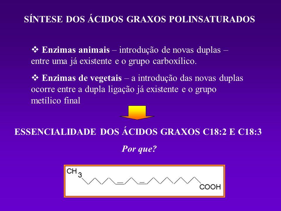 ESSENCIALIDADE DOS ÁCIDOS GRAXOS C18:2 E C18:3