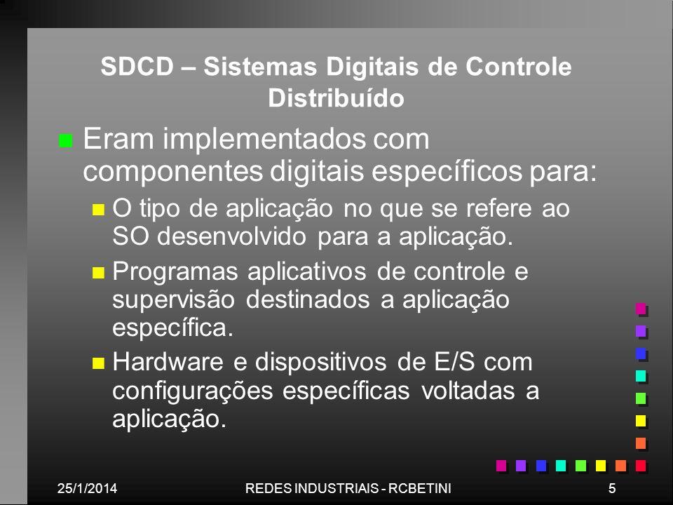 SDCD – Sistemas Digitais de Controle Distribuído