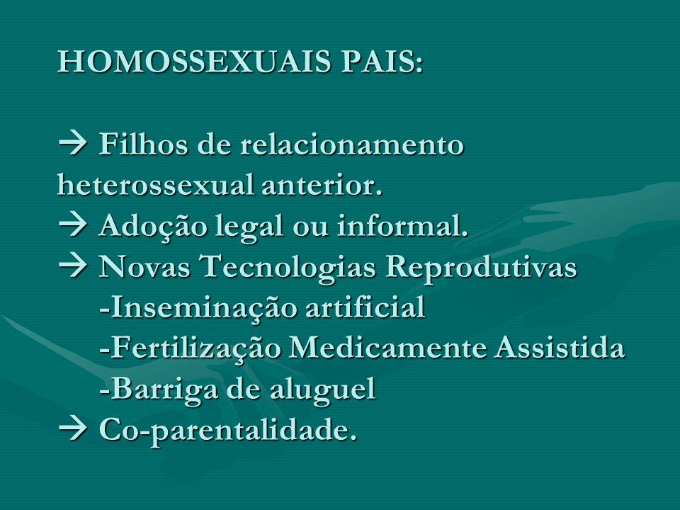 HOMOSSEXUAIS PAIS:  Filhos de relacionamento heterossexual anterior
