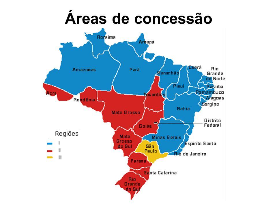 Áreas de concessão
