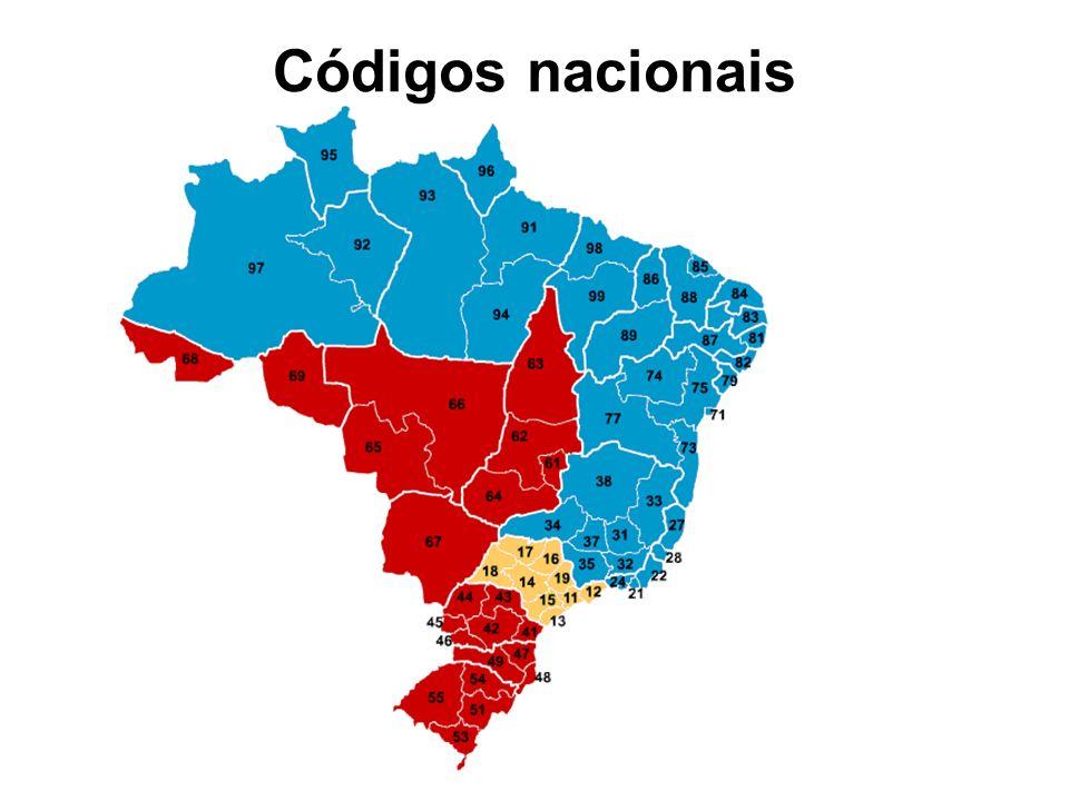 Códigos nacionais