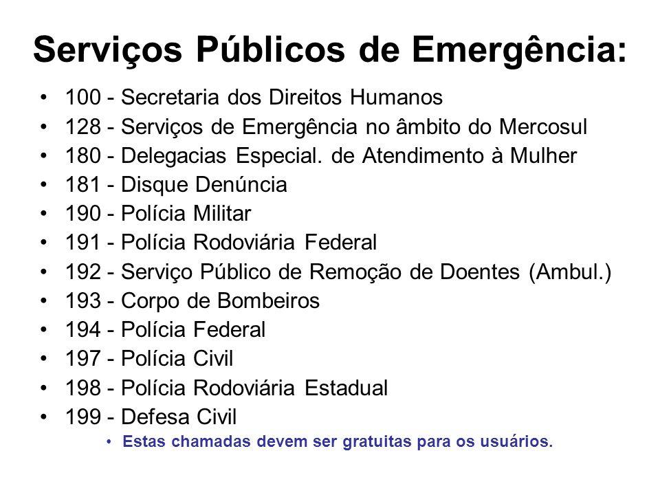 Serviços Públicos de Emergência: