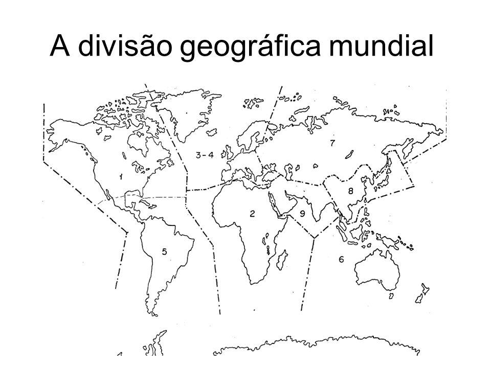A divisão geográfica mundial