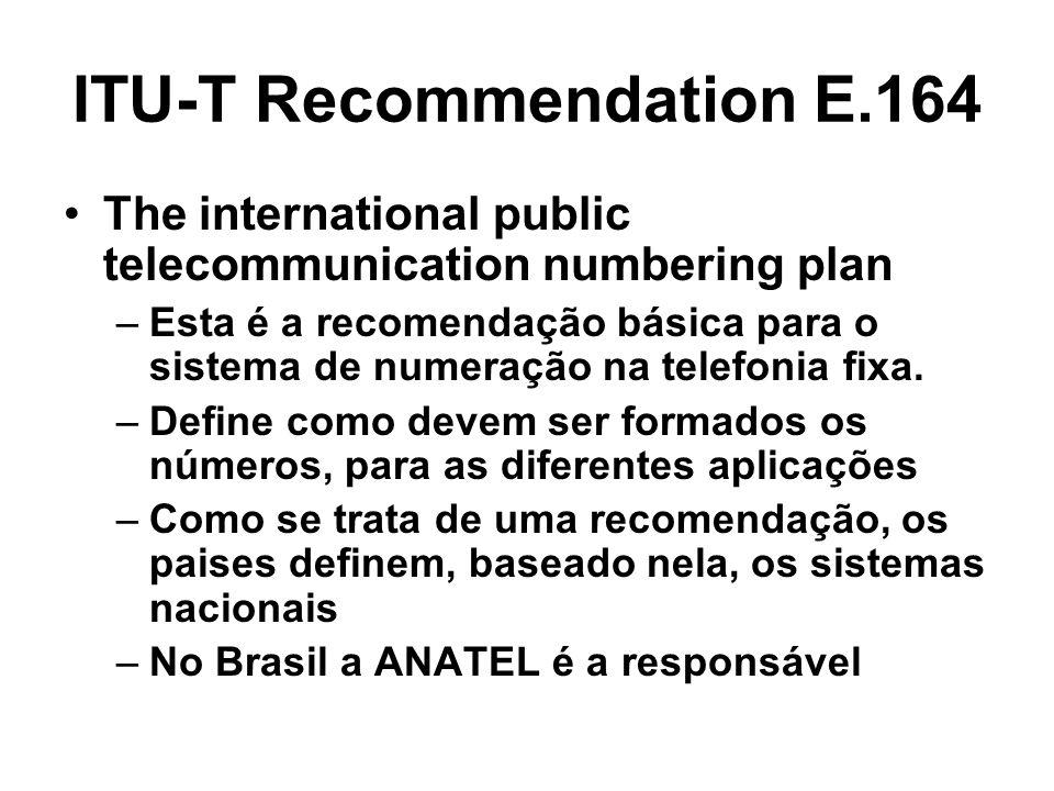 ITU-T Recommendation E.164