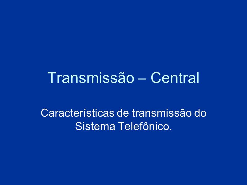 Características de transmissão do Sistema Telefônico.