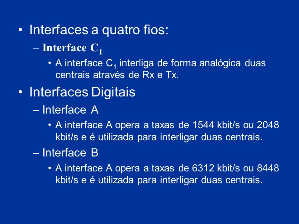 Interfaces a quatro fios: