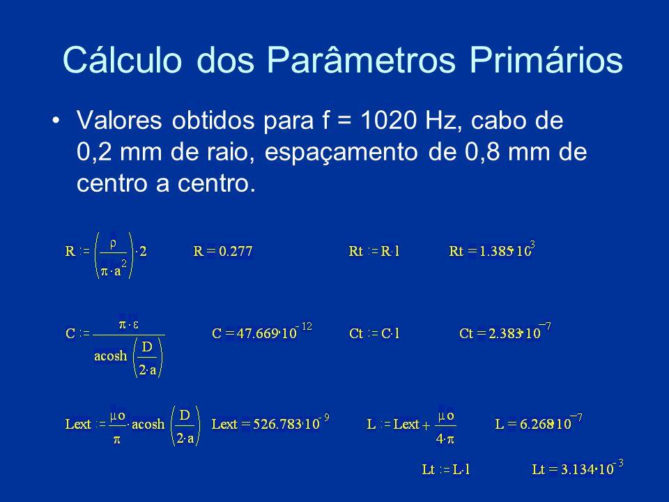 Cálculo dos Parâmetros Primários