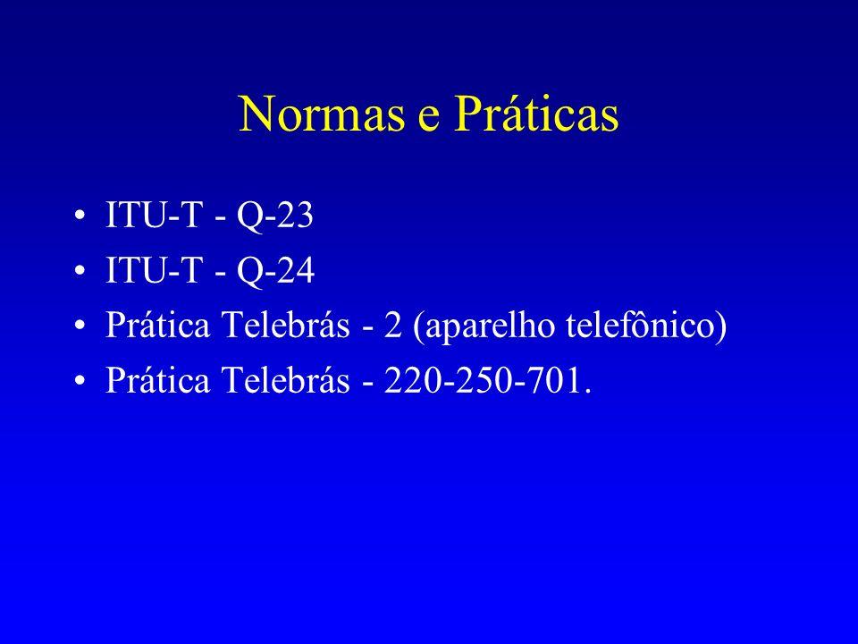 Normas e Práticas ITU-T - Q-23 ITU-T - Q-24