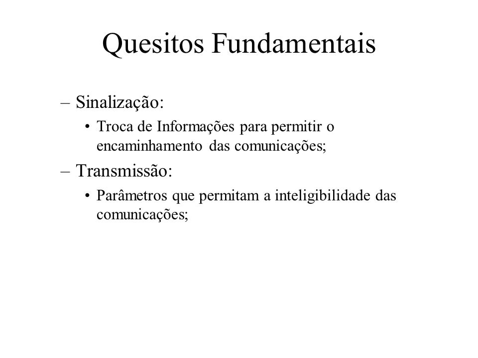 Quesitos Fundamentais