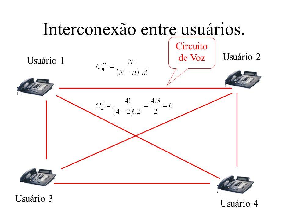 Interconexão entre usuários.