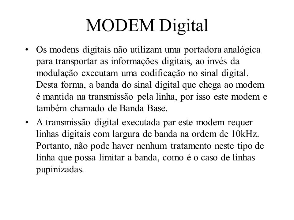 MODEM Digital