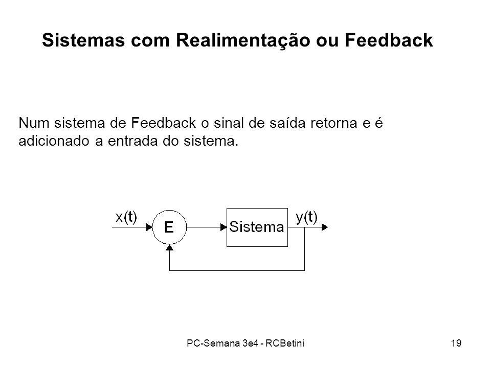Sistemas com Realimentação ou Feedback