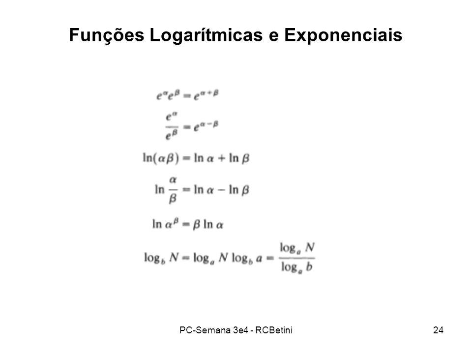 Funções Logarítmicas e Exponenciais