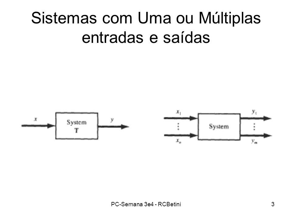 Sistemas com Uma ou Múltiplas entradas e saídas