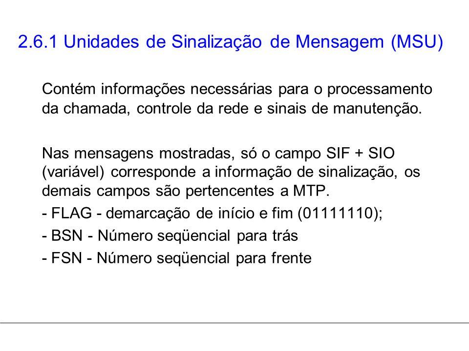 2.6.1 Unidades de Sinalização de Mensagem (MSU)